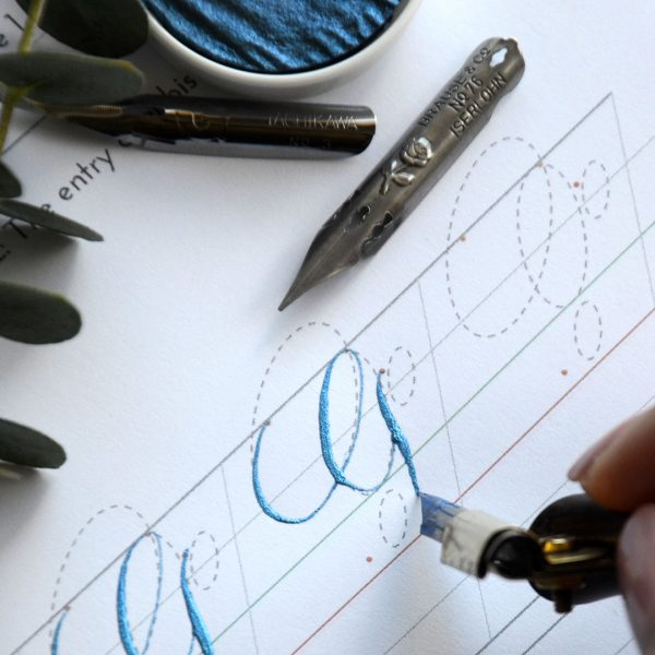 Copperplate Calligraphy Uppercase G Drill